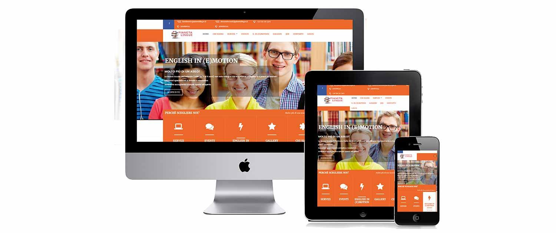 sito web responsive Pianeta Lingue